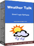 Talk weather forecasts